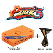 Wisamic Pandora's Box 5 Jamma Board PCB with Jamma Harness 960 In 1 Multi Arcade Games, 1280x720 Full HD, Upgraded CPU etc VGA HDMI Output for Arcade Cabinet - Orange