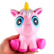 OVERMAL 14cm Lovely Pink Unicorn Cream Scented Squishy Slow Rising Squeeze Toys Phone Charm