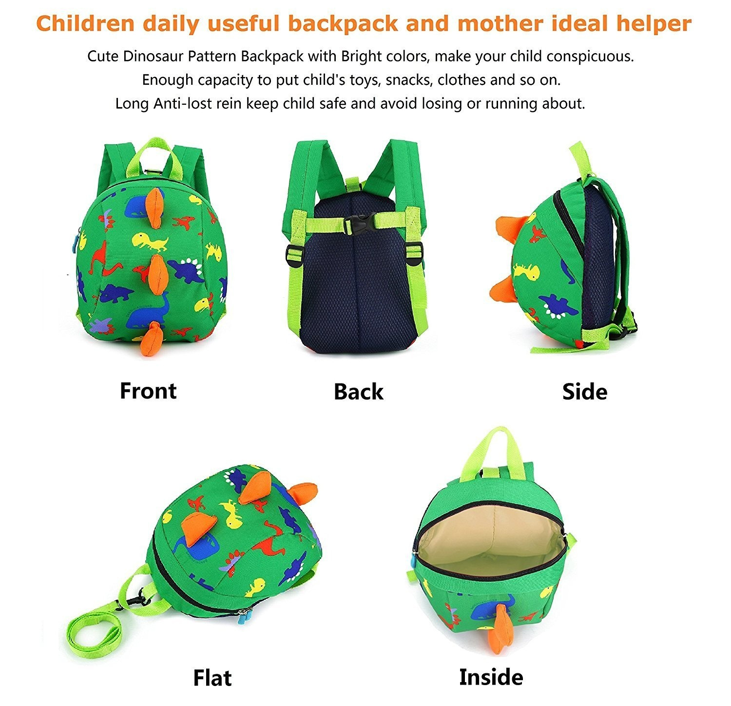 20de49d42548 DB Dinosaur children backpack with leash , Anti-lost children backpack,  Toddler backpack,cartoon backpack for toddler 1-3 years