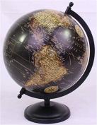 Hosley's 27cm High Black Globe. Ideal Gift or Use for Teacher, College Student, Dorm, Study, Den, Home Office