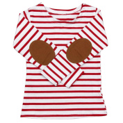 Gotd Toddler Infant Baby Girl Boy Clothes Winter Long Sleeve Stripe Long Sleeve Tops T-Shirt Blouses Autumn Outfits Gifts Christmas (5T