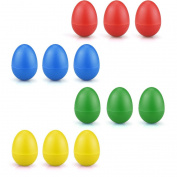 Bomach 12 Egg Shakers Music Percussion Instruments Set for Baby Maracas Hand Percussion Rhythm Toys