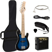 Best Choice Products Electric Guitar Kids 80cm Blue Guitar W/ Amp, Case, Strap