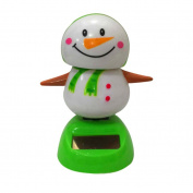 LTUI Christmas Solar Powered Dancing Animal/ Cute Cartoon Doll Toy Car Accessories/Swinging Dancer/Dashboard Bobblehead for Car/ Interior Decoration, Bobble Head Toy/Santa Claus, Kid's Gift