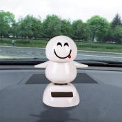 LTUI Christmas Solar Powered Dancing Animal/ Cute Cartoon Doll Toy Car Accessories/Swinging Dancer/Dashboard Bobblehead for Car/ Interior Decoration, Bobble Head Toy/Emoji Snowman, Kid's Gift