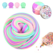 Fluffy Slime,Fluffy Floam Slime Stress Relief Toy Scented Sludge Toys 4 Colours 210ml