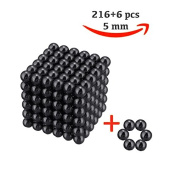 216 magic Balls Sculpture Toy - 216 Pieces 5mm Large Size - Includes Carrying Bag and Plastic Card Separator -