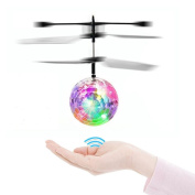 Flying Toys, TCY RC Flying Ball, Infrared Induction Helicopter Ball with Colourful Shinning LED Lights for Kids, Best RC Toy Gifts for Boys and Girls