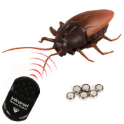 Remote Control Cockroach Realistic Fake Cockroach Prank Insects Scary Trick Toys for Kids and Adult