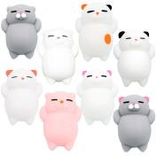 Squishies YESONE 8 Pcs Kawaii Squishy Toys Kawaii Squishy Cats Stress Reduce Mochi Squishy Animals
