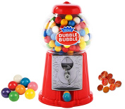 Playo 22cm Coin Operated Gumball Machine Toy Bank - Dubble Bubble Classic Red Style Includes 45 Gum Balls - Kids Coin Bank