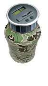 """Digital Coin Bank Savings Jar by DE - Automatic Coin Counter Totals all U.S. Coins including Dollars and Half Dollars - Original Style, """"Camo"""" Pattern"""
