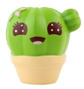 Anboor 10cm Squishies Cactus Scented Jumbo Slow Rising Kawaii Squishies Stress Relief Toy for Collection Gift Random Delivery