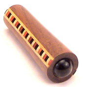 "Kaleidoscope / Teleidoscope ""MINI"". About 7.6cm long in Solid Walnut with unique band of hardwoods. By N & J"