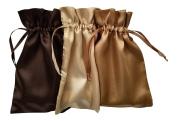 Tarot Bags: Earth Glitter Colours Satin Bundle of 3