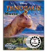 Disney's DINOSAUR MOVIE - Classic ViewMaster 3Reels, 21 3D images