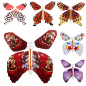 Magic Flying Butterfly Flies From Cards Letters Books Gifts and Flowers Surprise 6 Pcs Set