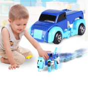 [Dog Car Toy] The Transformer Novelty Clockwork Deformable New Year Gift Kids Toy