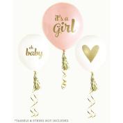 Gold Girl Baby Shower Balloons