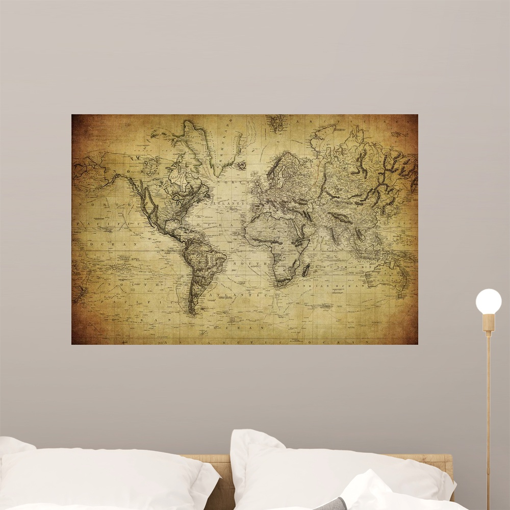 World Map Wall Mural Homeware: Buy Online from Fishpond.co.nz