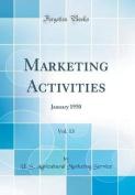 Marketing Activities, Vol. 13
