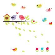 Home décor Line Birds on the Branch Window Sticker