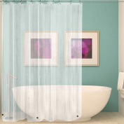 Wimaha Clear Shower Curtain Liner 72x72, Waterproof Shower Liner Mildew Resistant with Heavy Duty Magnets for Bathroom, 12 Metal Grommets and Hooks, Clear