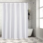 Mildew Resistant Shower Curtain for Bathroom with Rustproof Grommets and Plastic Hooks, 100% Polyester Fabric Curtain (Waterproof, Odourless, Ecofriendly, Antibacterial - 180cm x 180cm ) by Sable