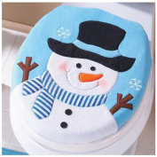 FreshZone Christmas Decoration Christmas Snowman Lid Single Toilet Cover