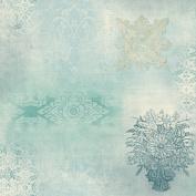 Patina Vie Prisha Patchwork Wallpaper - Blue