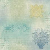 Patina Vie Prisha Patchwork Wallpaper - Sage