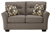 Ashley Furniture Signature Design - Tibbee Loveseat - Contemporary Couch - Sleek Tailored Sofa - Slate