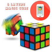 Speed Cube, Suvevic 3x3x3 Sticker Speed Cube Smooth Magic Cube Puzzle (New version)