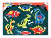 Melissa & Doug Dinosaurs Wooden Peg Puzzle