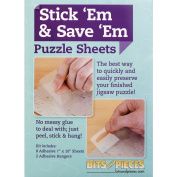 Bits and Pieces – Set of Eight (8) Peel and Stick Puzzle Saver Accessory Sheets - Preserve and Hang Your Finished Jigsaw Without Glue