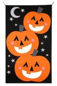 Christmas Pumpkin Bean bag Toss Game with 3pcs Bean bags party games for kids Pumpkin banner Halloween Decorations or Treat Banner Family Friendly Party 80cm x 140cm