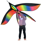Tomi Bird Kite – Huge Kite - Ideal for Kids and Adults – Easy to Launch – 160cm wide and 100cm long– 100 Metre String – unique ring handle – Built to Last - Great for Family Fun