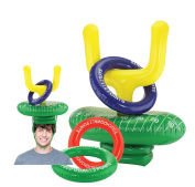KOVOT 2-Player Inflatable Football Ring Toss Game - Game Rules Included