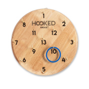 Hooked - Hook and Ring Game for Adults & Kids - Includes 13 Metal Hooks and 12 Rubber Rings