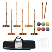 MAGGIFT Six Player Croquet Set with Carrying Bag, 70cm