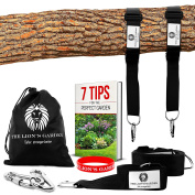The Lion's Garden Premium Tree Swing Hanging Kit - Adjustable Tree Swing Straps For Any Length From 1.5m - 3m Holds 1530kg With 2 Heavy Duty Carabiners - Perfect For Swings & Hammocks