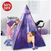 Indoor Kids Teepee Play Tent, Sunba Youth Outdoor Galaxy Princess Tent Play House for Boys & Girls