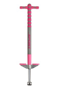 New Bounce - Custom Designed Girls Pink Soft, Easy Grip Sport Pogo Stick for Ages 5-9 (Pink & Grey) - Limited Edition
