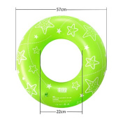 """HSOMiD 22"""" Colourful Star Print Inflatable Tube Swim Ring - Swimming Pool Floats Water Rings for Kids"""