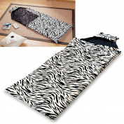 Girls Sleeping Bag with Cat Ear Hood Indoor Outdoor Sleepover Camping Teen Youth, Zebra