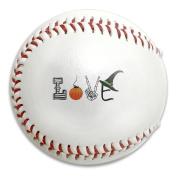 Love Halloween Size 9 Safety Soft Baseballs Bullet Ball Training Ball White