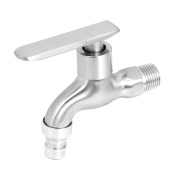 Unique Bargains Kitchen Bathroom 20mm Male Threaded Metal 90 Degree Turn Water Faucet Tap