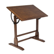 Offex Home Vintage Drafting Table 90cm Rustic Oak