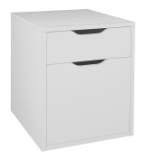 Niche NPBF19WH Mōd Freestanding Box-File Pedestal with No-Tools Assembly, 38cm W x 48cm D, White Wood Grain