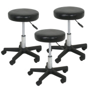 F2C Leather Adjustable Bar Stools Swivel Chairs Facial Massage Spa Salon Stool White/Black